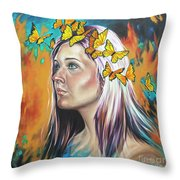 Crown Of Transformation Throw Pillow