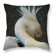 Crown Pelican Throw Pillow