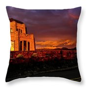 Crown Point At Sunset Throw Pillow