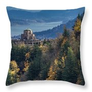 Crown Point In The Fall Throw Pillow
