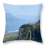 Crown Point Vista House Throw Pillow