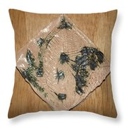 Crowned - Tile Throw Pillow