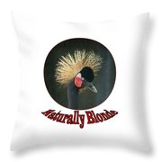 Crowned Crane - Naturally Blonde - Transparent Throw Pillow