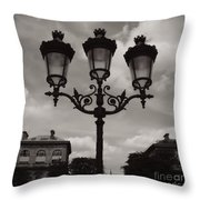Crowned Luminaires In Paris Throw Pillow