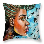 Crowned Royal Throw Pillow