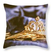 Crowned Tiara Jewellery Throw Pillow