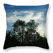 Crowned Trees Throw Pillow