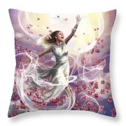Crowned With Glory... Dancing In Glory Throw Pillow