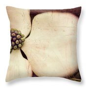 Crowning The Blooming Dog Throw Pillow