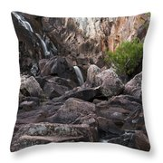 Crows Nest Falls During The Day. Throw Pillow