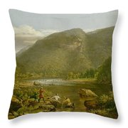 Crow's Nest Throw Pillow by Thomas Worthington Whittredge