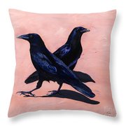 Crows Throw Pillow