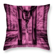Crucified Throw Pillow