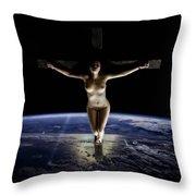 Crucified Tellus Throw Pillow