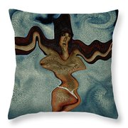 Crucified Woman Surreal I Throw Pillow