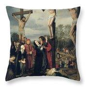 Crucifixion Throw Pillow by Eduard Karl Franz von Gebhardt