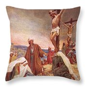 Crucifixion Throw Pillow by William Brassey Hole