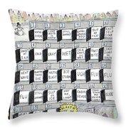Cruellest Month Throw Pillow