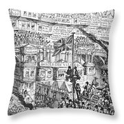 Cruikshank: London, 1851 Throw Pillow
