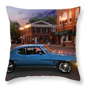 Cruise Night In Liberty Throw Pillow