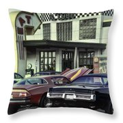 Cruise Night_hdr Throw Pillow