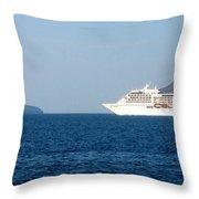 Cruise Ship Departing 2 Throw Pillow