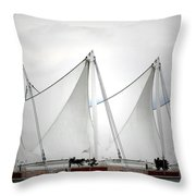 Cruise Ship Terminal Vancouver Canada Throw Pillow