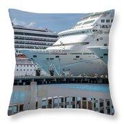 Cruise Ship Trio Throw Pillow