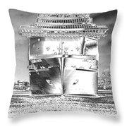 Cruise Ships In Chrome Throw Pillow