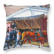 Cruisin By The Market Throw Pillow