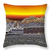 Cruisin The Sound Throw Pillow