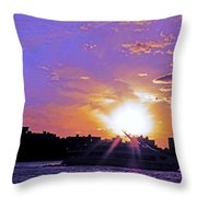 Cruising Down The Hudson Throw Pillow