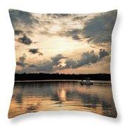 Cruising, Eagle Lake, Almaguin Highlands, Ontario Throw Pillow