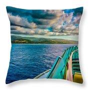 Cruising Hispaniola Throw Pillow