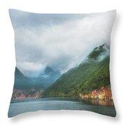 Cruising Lake Como Italy Throw Pillow
