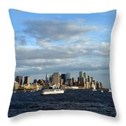 Cruising On The Hudson Throw Pillow