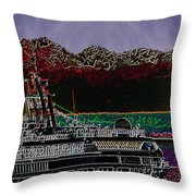 Cruising Puget Sound Throw Pillow