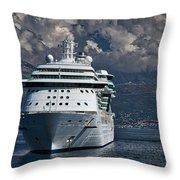 Cruising The Adriatic Sea Throw Pillow