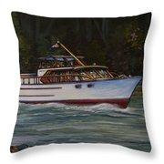 Cruising The British Columbia Gulf Islands, Canada                                       Throw Pillow