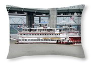 Cruising The Ohio River Throw Pillow