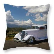 Cruizing Model A Ford Hot Rod Throw Pillow