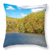 Crum Creek In Autumn Throw Pillow