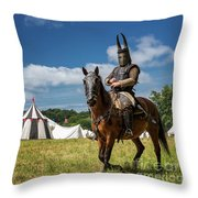 Saddled Up For Battle, Denmark Throw Pillow