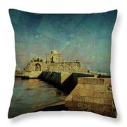Crusaders Sea Castle Throw Pillow