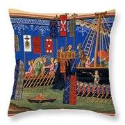 Crusades 14th Century Throw Pillow