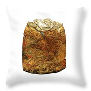 Crushed Beer Cans. Throw Pillow