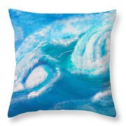 Crushing Wave Throw Pillow