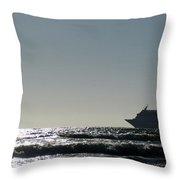 Crusing Seas Throw Pillow