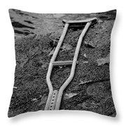 Crutch Throw Pillow