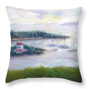 Cruz Bay Remembered Throw Pillow